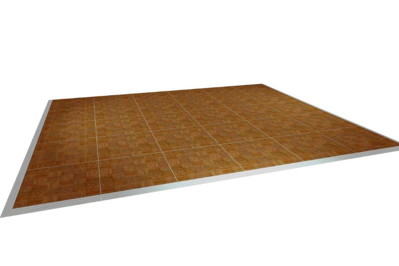 Indoor/Outdoor Parquetry Dance Floor 6.3 x 6.3 - 49 panels